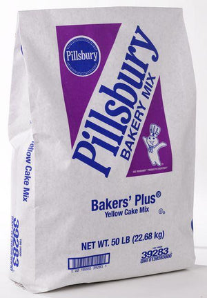 Pillsbury™ Bakers Plus Yellow Cake Mix 50 lb Bag Pillsbury Mix - Bake Supply Plus