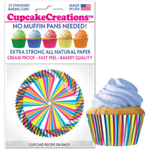 Rainbow Swirl Cupcake Liner, 32 ct. Cupcake Creations Cupcake Liner - Bake Supply Plus