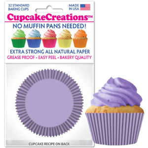 Lavender Cupcake Liner, 32 ct. Cupcake Creations Cupcake Liner - Bake Supply Plus