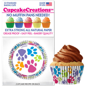 Paw Prints Cupcake Liner, 32 ct. Cupcake Creations Cupcake Liner - Bake Supply Plus