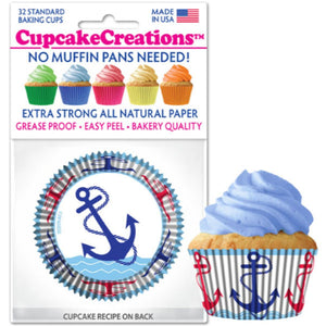 Anchors Cupcake Liner, 32 ct. Cupcake Creations Cupcake Liner - Bake Supply Plus