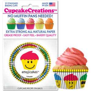 Emoji Cakes Cupcake Liner, 32 ct. Cupcake Creations Cupcake Liner - Bake Supply Plus