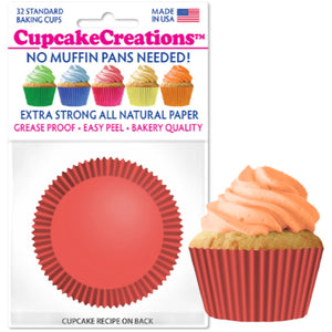 Coral Cupcake Liner, 32 ct. Cupcake Creations Cupcake Liner - Bake Supply Plus