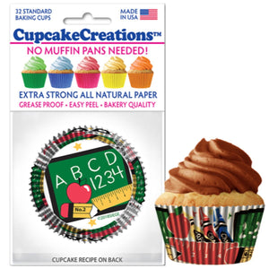 School Days Cupcake Liner, 32 ct. Cupcake Creations Cupcake Liner - Bake Supply Plus