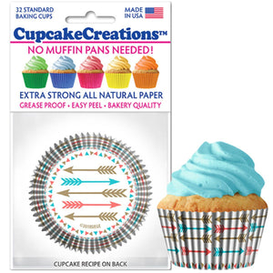 Arrows Cupcake Liner, 32 ct. Cupcake Creations Cupcake Liner - Bake Supply Plus