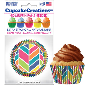 Kaleidoscope Cupcake Liner, 32 ct. Cupcake Creations Cupcake Liner - Bake Supply Plus