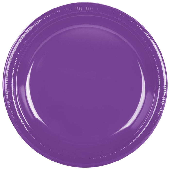 Creative Converting Amethyst Dinner Plastic Plate 20ct