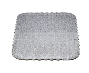 Silver Scalloped Sheet Cake Boards  — All Sizes Whalen Packaging Cake Board - Bake Supply Plus
