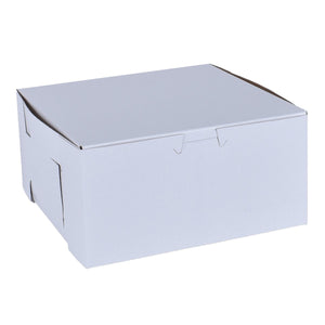 White Cake Boxes - 7x7x3 Bake Supply Plus Box - Bake Supply Plus