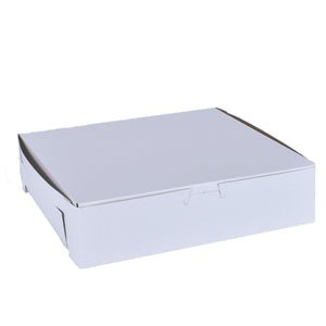 White Cake Boxes - 10x10x2.5 Bake Supply Plus Box - Bake Supply Plus