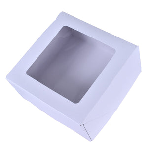 Cake Boxes With Window — 9x9x5/10x10x5 Whalen Packaging Box - Bake Supply Plus