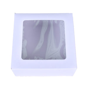 White Window Cake Boxes - 4x4x4 Bake Supply Plus Box - Bake Supply Plus