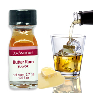 Butter Rum Flavor 1 Dram LorAnn Oils Flavoring - Bake Supply Plus