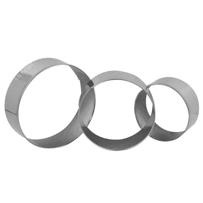 Round Fondant Cookie Pastry Cutter Set