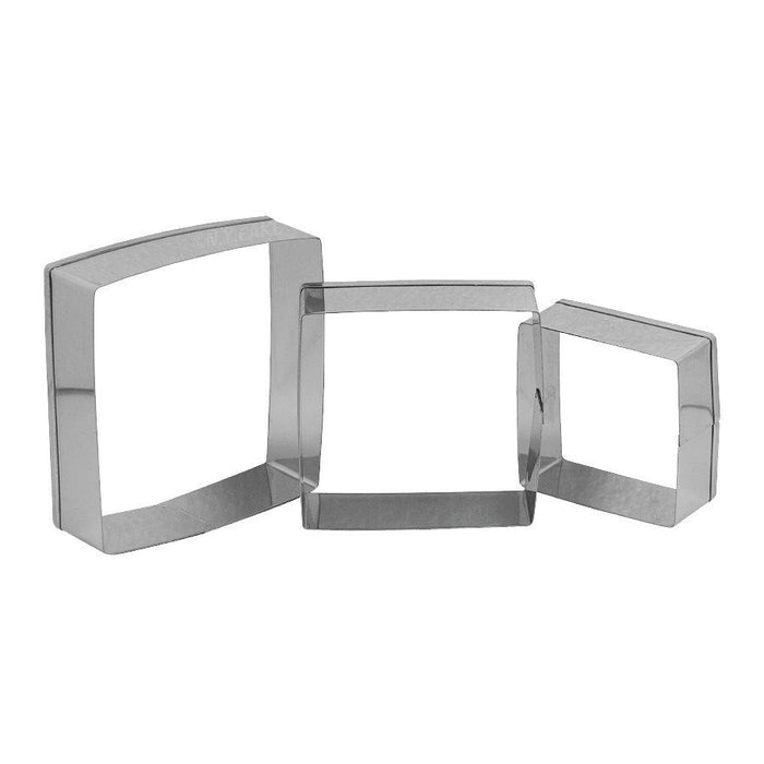 Square Fondant Cookie Pastry Cutter Set