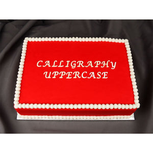Calligraphy Uppercase Flexabet™ Mold Marvelous Molds Silicone Mold - Bake Supply Plus