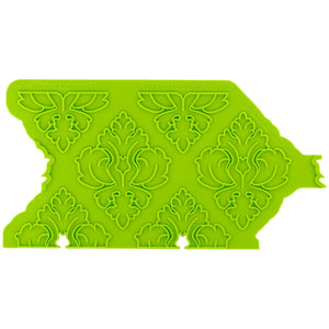 Damask Pattern Onlay® Marvelous Molds Silicone Mold - Bake Supply Plus