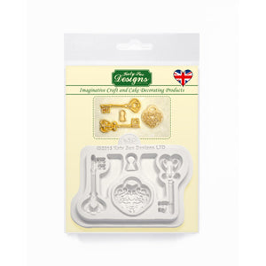 Decorative Keys & Locket Silicone Mold Katy Sue Designs Silicone Mold - Bake Supply Plus