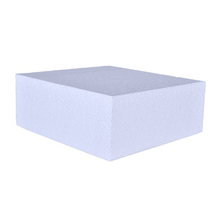 Foam Cake Dummies - 12x12x4 Square Bake Supply Plus Cake Dummy Square - Bake Supply Plus