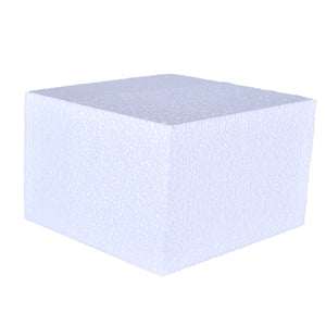 Foam Cake Dummies - 6x6x4 Square Bake Supply Plus Cake Dummy Square - Bake Supply Plus