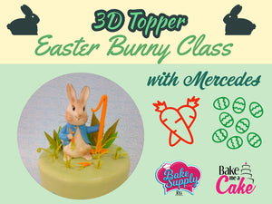 3/20 - 9:30 - 4:00 3D Easter Bunny Cake, Instructor: Artist Mercedes Strachwsky Bake Supply Plus Class - Bake Supply Plus
