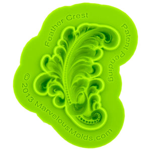 Feather Crest Mold Marvelous Molds Silicone Mold - Bake Supply Plus