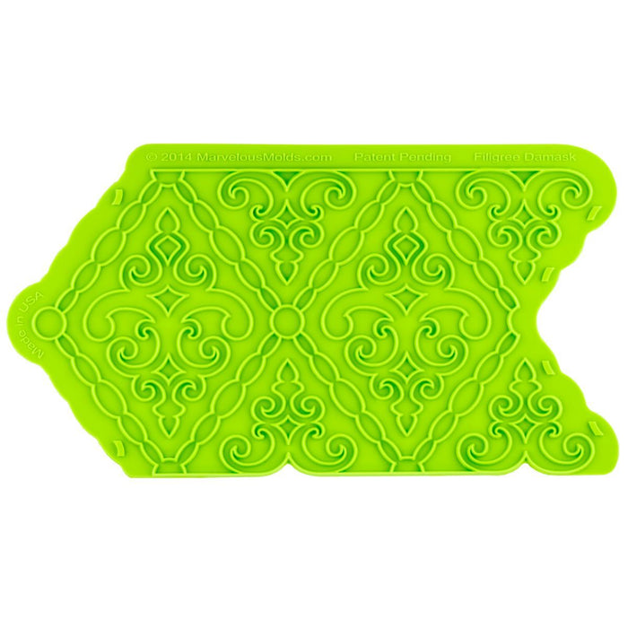 Filigree Damask Pattern Mold