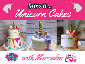 3/26 - 12:00 - 6:00 Intro to Unicorn Cakes, Artist Mercedes Strachwsky Bake Supply Plus Class - Bake Supply Plus