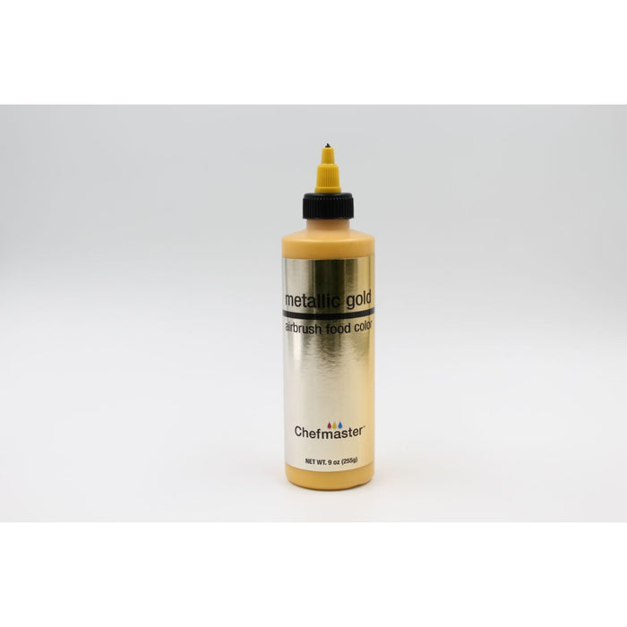 Chefmaster Metallic Airbrush 2oz — Gold, Silver, & Pearl Colors