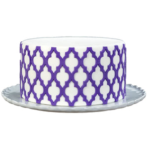 Moroccan Lattice Onlay® Marvelous Molds Silicone Mold - Bake Supply Plus