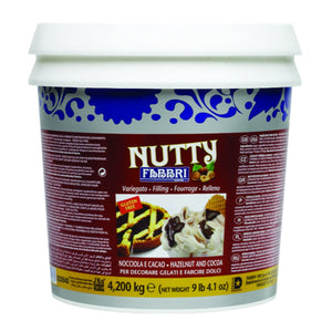 Fabbri Nutty Marbling Hazelnut and Cocoa Filling - Bake Supply Plus