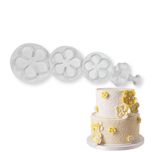 Blossom Rose Plunger Cutter Set NY Cake Fondant Cutter - Bake Supply Plus