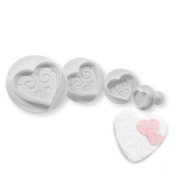Fancy Heart Plunger Cutter Set
