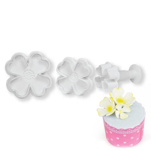 Dogwood Plunger Cutter Set NY Cake Fondant Cutter - Bake Supply Plus