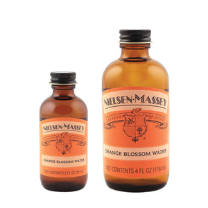 Orange Blossom Water  — 2 & 4 oz Nielsen-Massey Extract - Bake Supply Plus