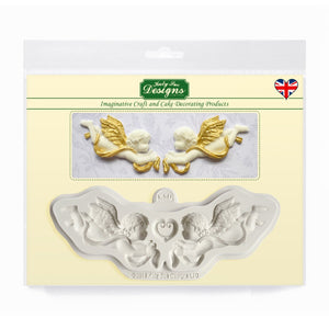 Ornamental Cherubs Silicone Mold Katy Sue Designs Silicone Mold - Bake Supply Plus