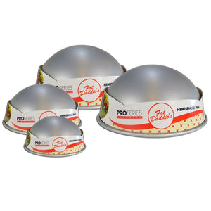 Fat Daddio's Hemisphere Pans — All Sizes - Bake Supply Plus