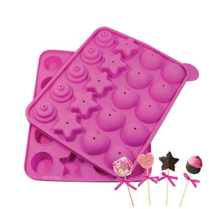 Assorted Cake Pop Mold NY Cake Silicone Baking Mold - Bake Supply Plus