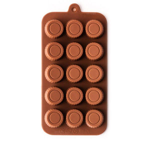 Peanut Butter Cup Silicone Chocolate Mold NY Cake Silicone Chocolate Mold - Bake Supply Plus