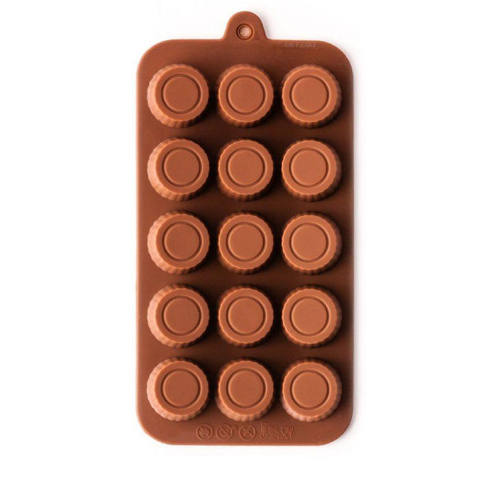 Peanut Butter Cup Silicone Chocolate Mold