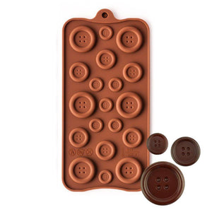 Buttons Silicone Chocolate Mold NY Cake Silicone Chocolate Mold - Bake Supply Plus