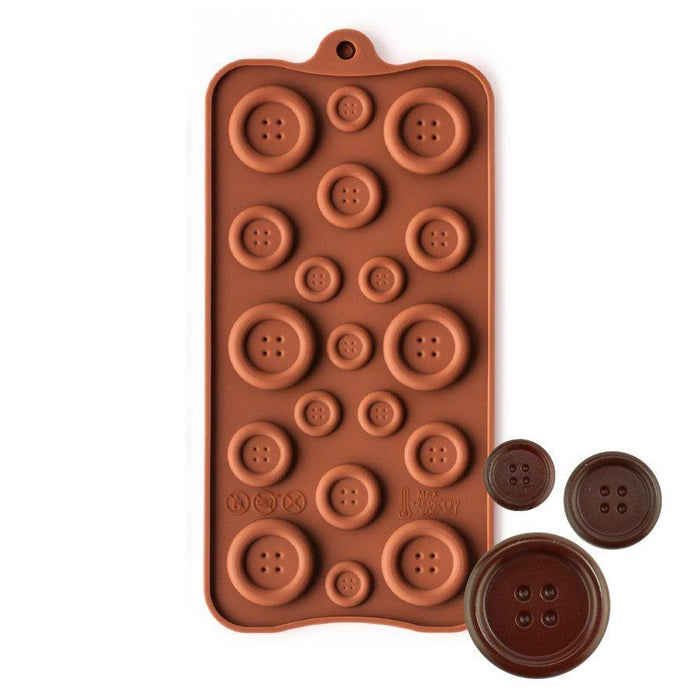 Buttons Silicone Chocolate Mold