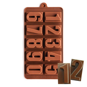 Numbers Chocolate Mold NY Cake Silicone Chocolate Mold - Bake Supply Plus