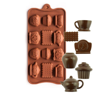 Tea Time Silicone Chocolate Mold NY Cake Silicone Chocolate Mold - Bake Supply Plus