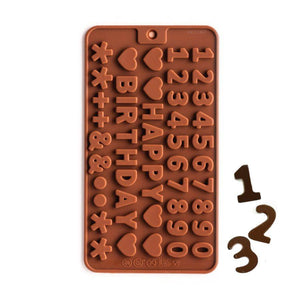 Mini Number Silicone Chocolate Mold NY Cake Silicone Chocolate Mold - Bake Supply Plus