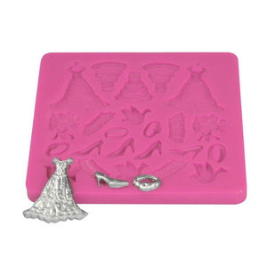 Wedding Dress Fondant Silicone Mat NY Cake Impression Tool - Bake Supply Plus