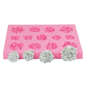 Assorted Roses Silicone Mold NY Cake Silicone Mold - Bake Supply Plus