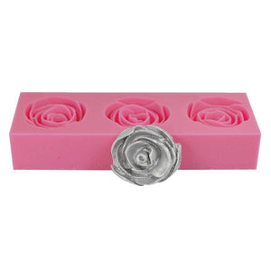 3D Rose Silicone Mold NY Cake Silicone Mold - Bake Supply Plus