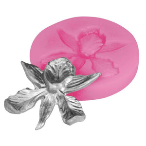 Orchid Silicone Fondant Mold NY Cake Fondant Cutter - Bake Supply Plus