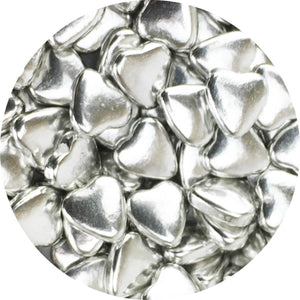 Dragees Silver Hearts 3.7oz
